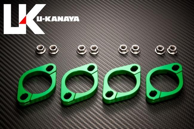 鋁合金切削加工 排氣管頭段固定環 [ZRX1100: ZRX1200: ZRX1200DAEG  専用]