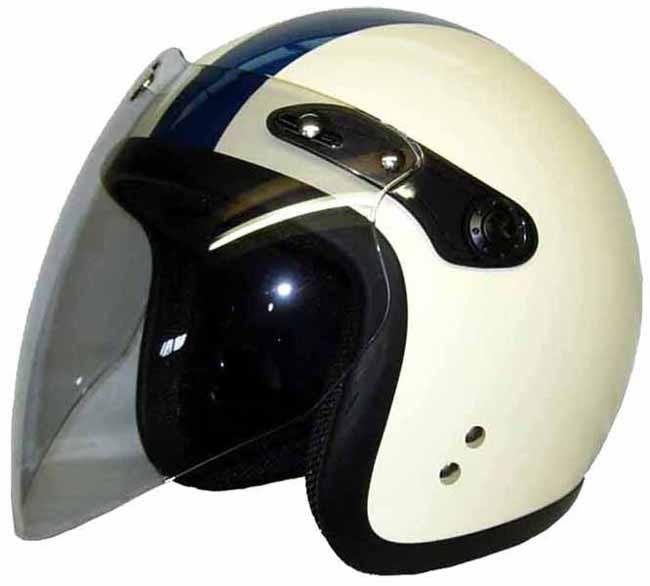 Kawamura付鏡片Small Jet四分之三安全帽