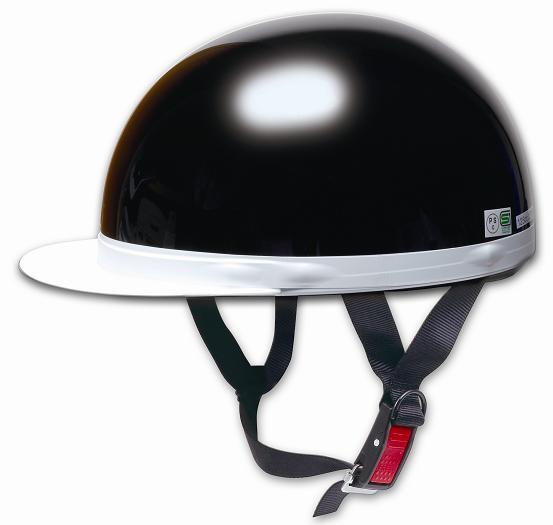 Comfort Helmet 白邊緣 Half cap 半罩安全帽 Black