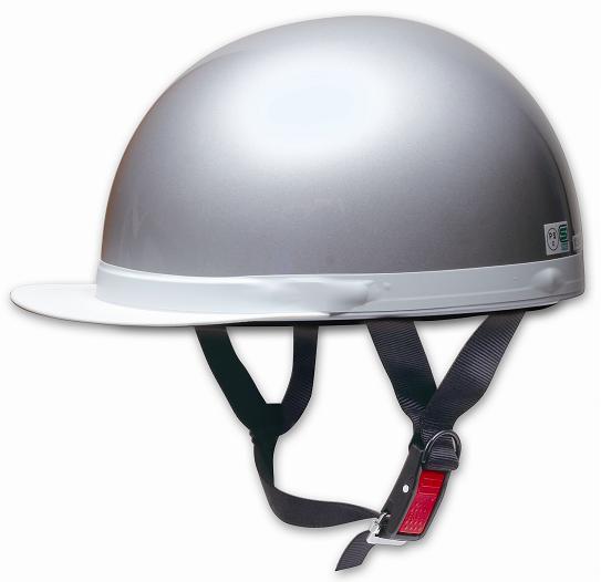 Comfort Helmet 白邊緣 Half cap 半罩安全帽 Silver