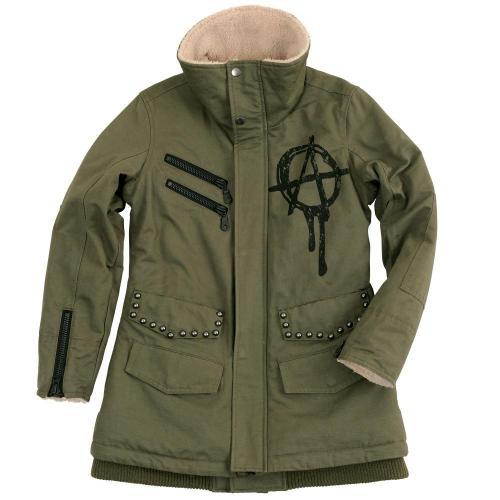手繪標記軍裝冬季外套