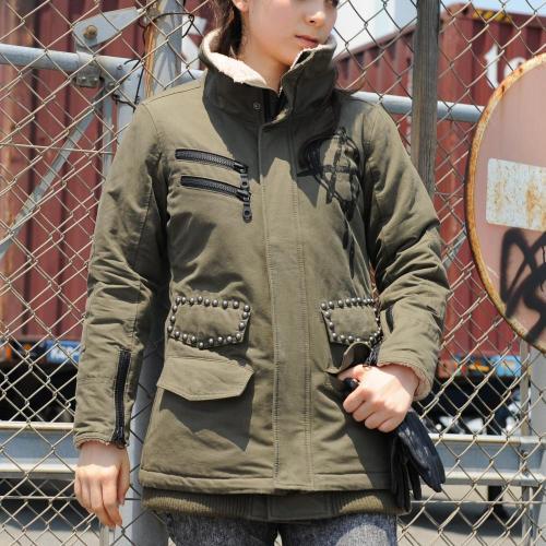 【S.O.A.B】手繪標記軍裝冬季外套 - 「Webike-摩托百貨」