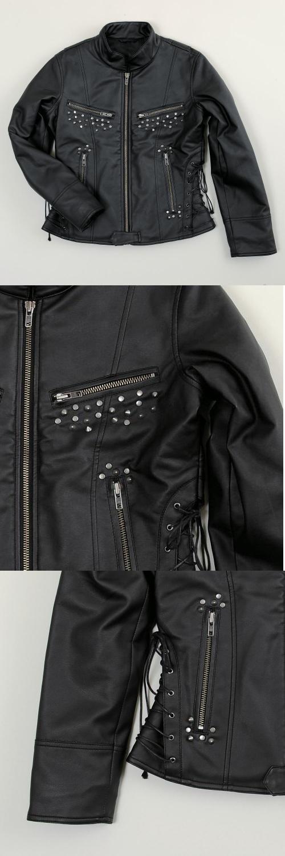 【S.O.A.B】Lace-up 側邊系帶夾克 - 「Webike-摩托百貨」
