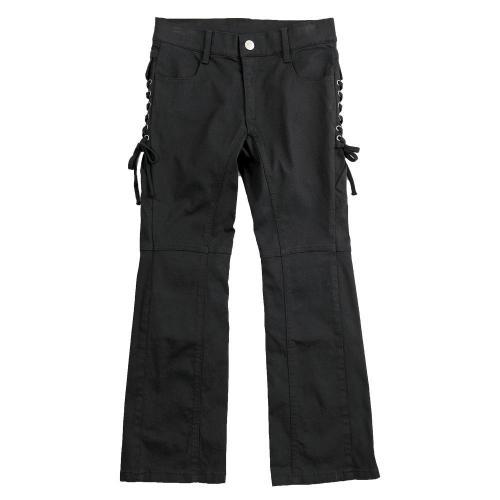 Lace-up 側邊系帶靴型褲