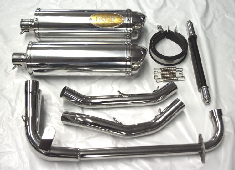 EVO Racing 不鏽鋼雙出全段排氣管 D TYPE