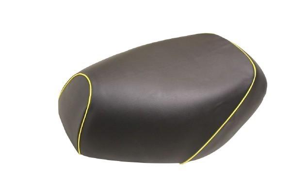 日本製坐墊皮 替換型 【黑色・黄色滾邊】