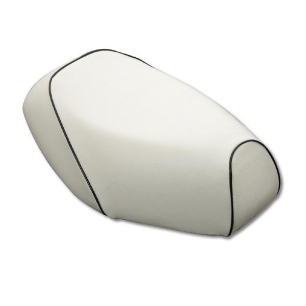 日本製坐墊皮【白色坐墊皮・黑色滾邊】覆蓋型