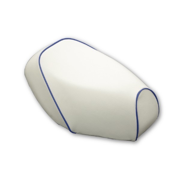 日本製坐墊皮【白色坐墊皮・藍色滾邊】覆蓋型