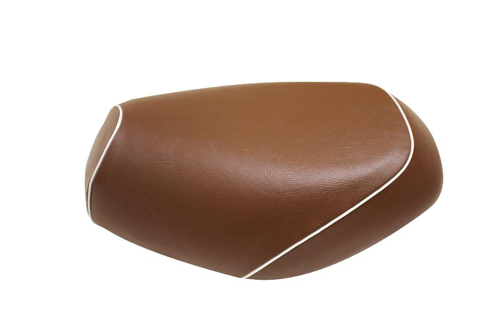 【GRONDEMENT】日本製坐墊皮 替換型 【咖啡色・白色滾邊】 - 「Webike-摩托百貨」