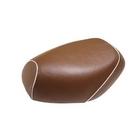 【GRONDEMENT】日本製坐墊皮 覆蓋型 【咖啡色・白色滾邊】