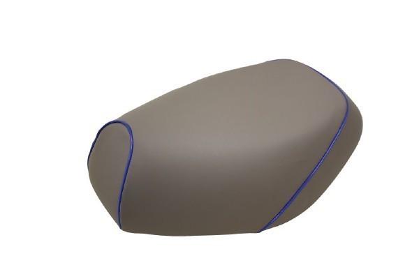 日本製坐墊皮 替換型 【灰色・藍色滾邊】