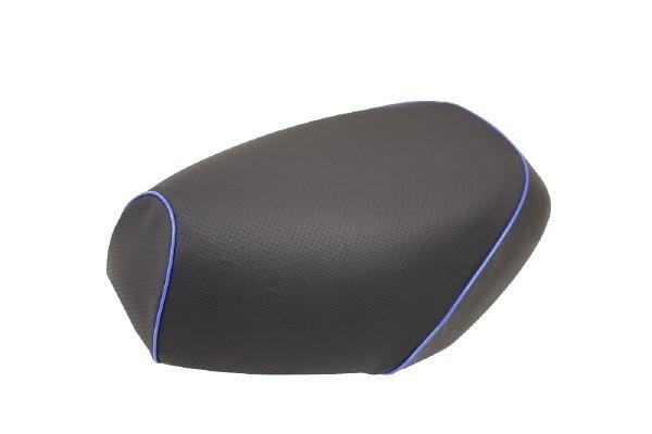 日本製坐墊皮 替換型 【壓花・藍色滾邊】