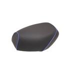 【GRONDEMENT】日本製坐墊皮 覆蓋型 【壓花・藍色滾邊】