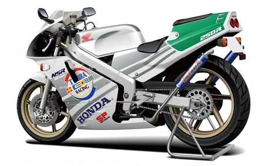 [模型車] HONDA 89 NSR250R SP (附Custom parts)