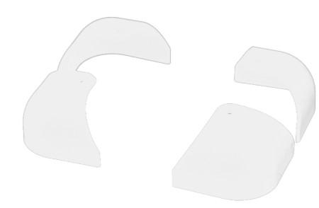 ZEGA-PRO用塑料防護器 上側