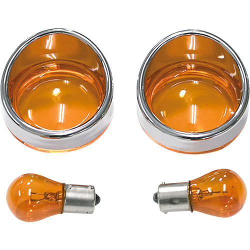 Harley-Davidson用 方向燈燈殼套件 Bezel Type 琥珀色