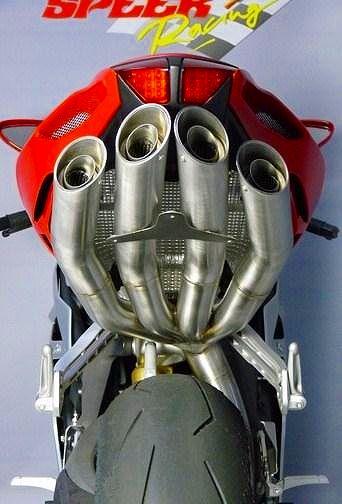 全鈦合金排氣管尾段 (Quattro FSR Racing)