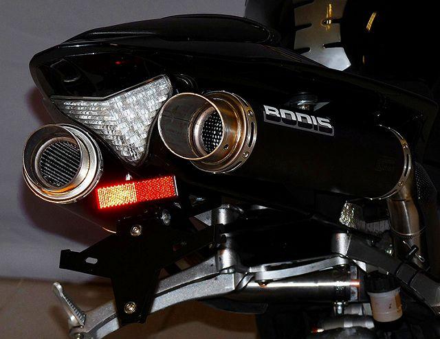 【BODIS】GP1 不銹鋼 排氣管尾段組 4-2  (黑色) - 「Webike-摩托百貨」