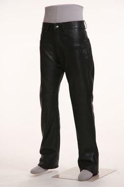 輕量皮革 直筒皮褲