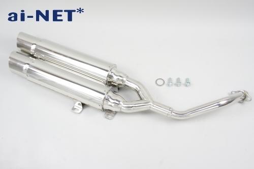 【ai-net】原廠型不銹鋼全段排氣管 (單邊雙出型) - 「Webike-摩托百貨」