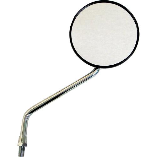 MIRAX16 黒圓形支架型電鍍後視鏡 10mm
