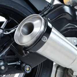 【R&G】橢圓形(橢圓) 消音器保護器 【Oval style Exhaust Protector (Can Cover)】■