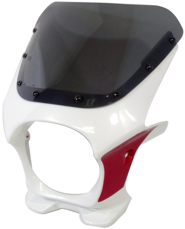 通用頭燈罩 DS-01 TYPE AERO【Pearl Sunbeam White×Candy Arcadian Red】 雙色 Aero Screen樣式