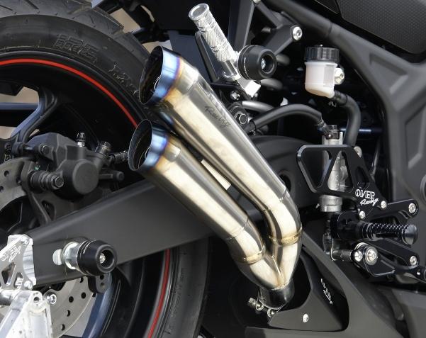 Twin megaphone 鈦合金排氣管尾段