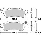 SBS Street Ceramic 736HF Brake Pads
