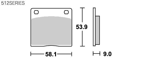 512HF 道路版 陶瓷煞車來令片