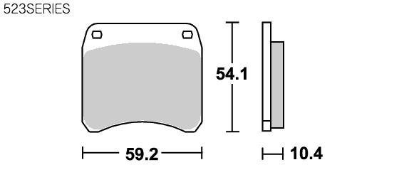 賽車版 碳纖維煞車來令片 523RQ