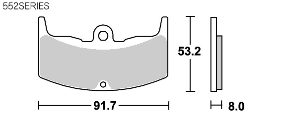 Street ceramic 552HF 煞車來令片