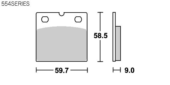 【SBS】道路版 陶瓷煞車來令片 554HF  - 「Webike-摩托百貨」