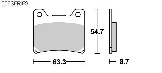 【SBS】Racing Carbon 555RQ 煞車來令片