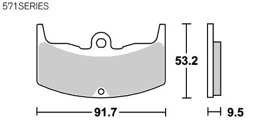 【SBS】Street ceramic 571HF 煞車來令片 - 「Webike-摩托百貨」