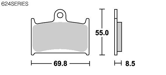 【SBS】624DC Racing 雙碳纖維煞車來令片 - 「Webike-摩托百貨」