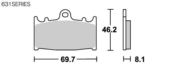 【SBS】631RQ Racing 碳纖維煞車來令片 - 「Webike-摩托百貨」