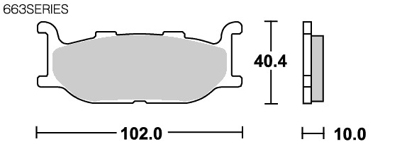 【SBS】Street Ceramic 663HF 煞車來令片