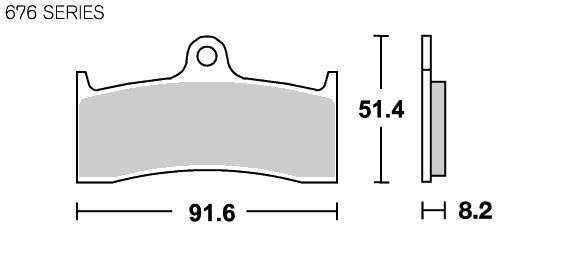 【SBS】Racing Carbon 676RQ 煞車來令片