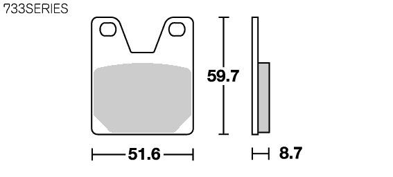 Street ceramic 煞車來令片 733HF