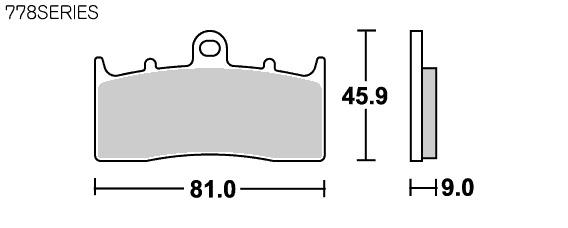 【SBS】Street Excel Sinter 778HS 煞車來令片 - 「Webike-摩托百貨」