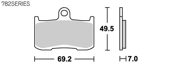 782DC  Racing 雙碳纖維煞車來令片