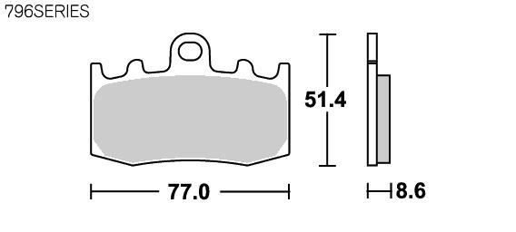 【SBS】Street Ceramic 796HF 煞車來令片