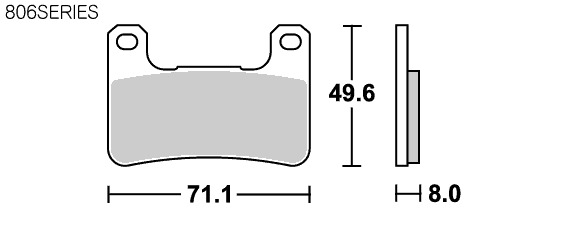 【SBS】Racing Dual Carbon 806DC 煞車來令片