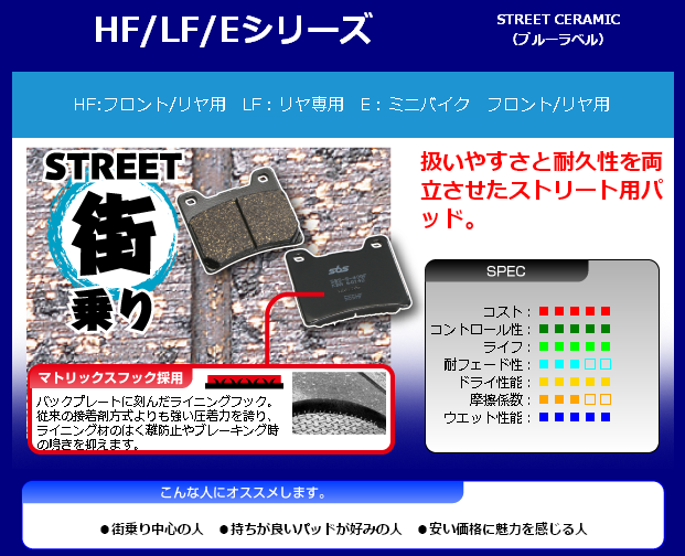 【SBS】Street Ceramic 881HF 煞車來令片