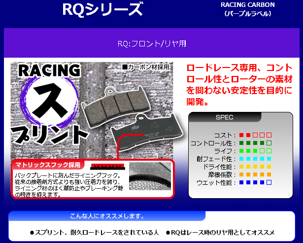 【SBS】Racing Carbon 632RQ 煞車來令片
