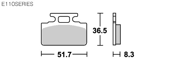 【SBS】 E110 道路版 陶瓷煞車來令片 - 「Webike-摩托百貨」