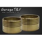 【Garage T&F】黃銅製排氣管尾蓋