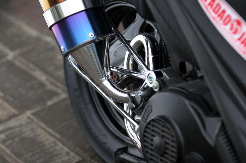 Pure Sport  SV 金色飾徽鈦合金全段排氣管 (鈦藍)