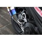 【SP忠男】Pure Sport  SV 金色飾徽鈦合金全段排氣管 (鈦藍)